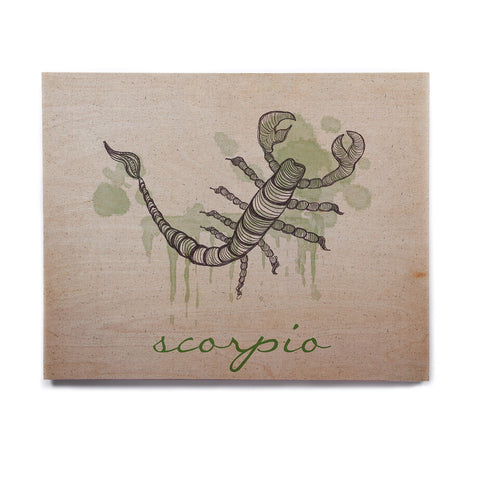 "Belinda Gillies ""Scorpio"" Birchwood Wall Art - KESS InHouse  - 1"
