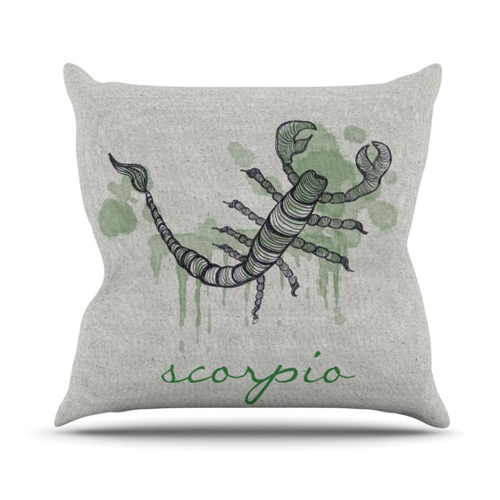 "Belinda Gillies ""Scorpio"" Throw Pillow - KESS InHouse  - 1"