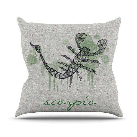 "Belinda Gillies ""Scorpio"" Outdoor Throw Pillow - KESS InHouse  - 1"