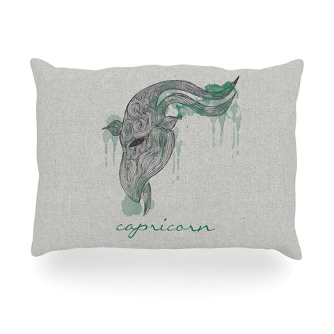 "Belinda Gillies ""Capricorn"" Oblong Pillow - KESS InHouse"