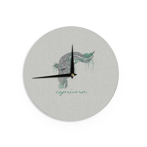 "Belinda Gillies ""Capricorn"" Wall Clock - KESS InHouse"