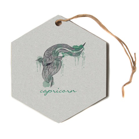 "Belinda Gillies ""Capricorn""  Hexagon Holiday Ornament"