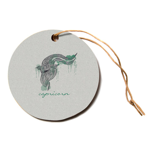 "Belinda Gillies ""Capricorn""  Circle Holiday Ornament"