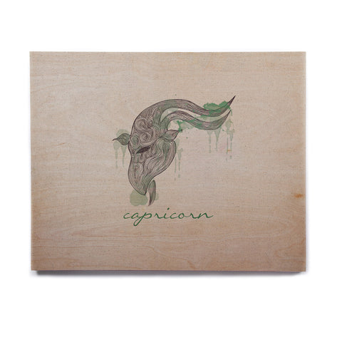 "Belinda Gillies ""Capricorn"" Birchwood Wall Art - KESS InHouse  - 1"