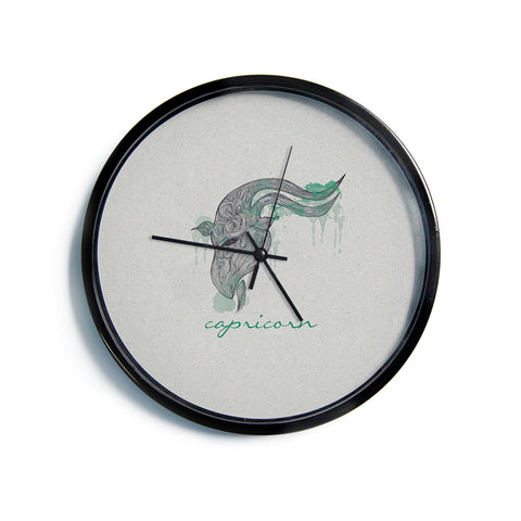 "Belinda Gillies ""Capricorn""  Modern Wall Clock"