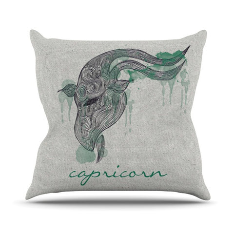 "Belinda Gillies ""Capricorn"" Outdoor Throw Pillow - KESS InHouse  - 1"