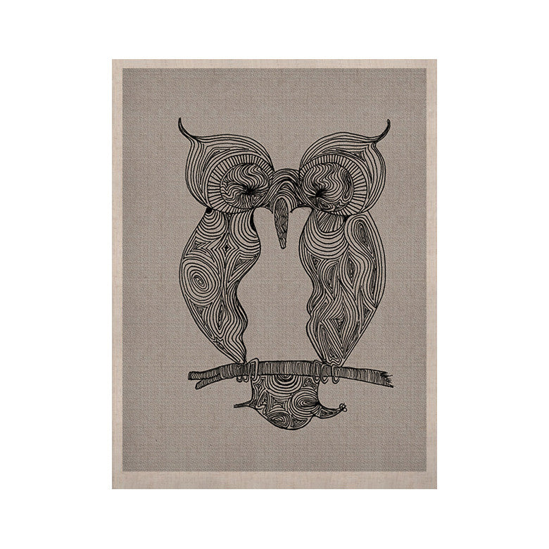 "Belinda Gillies ""Owl"" KESS Naturals Canvas (Frame not Included) - KESS InHouse  - 1"