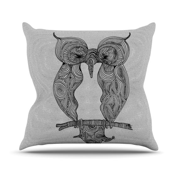 "Belinda Gillies ""Owl"" Throw Pillow - KESS InHouse  - 1"