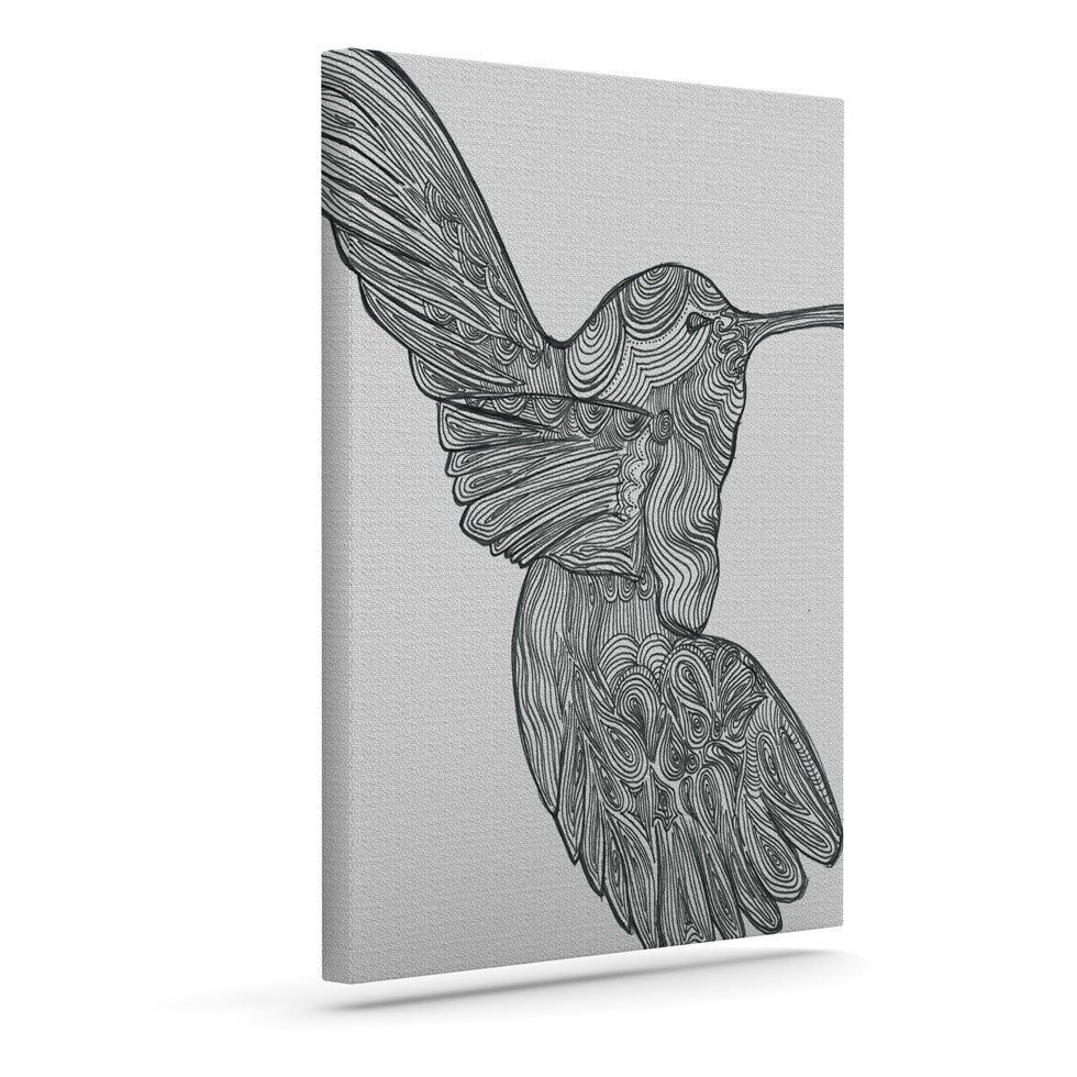 "Belinda Gillies ""Hummingbird"" Outdoor Canvas Wall Art - KESS InHouse  - 1"
