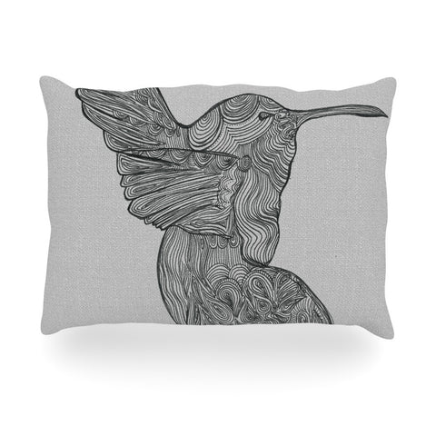 "Belinda Gillies ""Hummingbird"" Oblong Pillow - KESS InHouse"