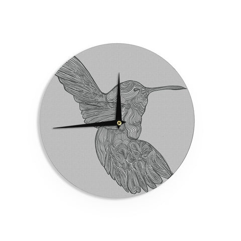 "Belinda Gillies ""Hummingbird"" Wall Clock - KESS InHouse"
