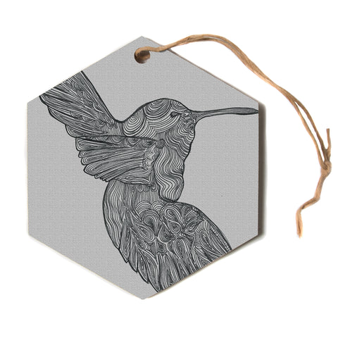 "Belinda Gillies ""Hummingbird""  Hexagon Holiday Ornament"