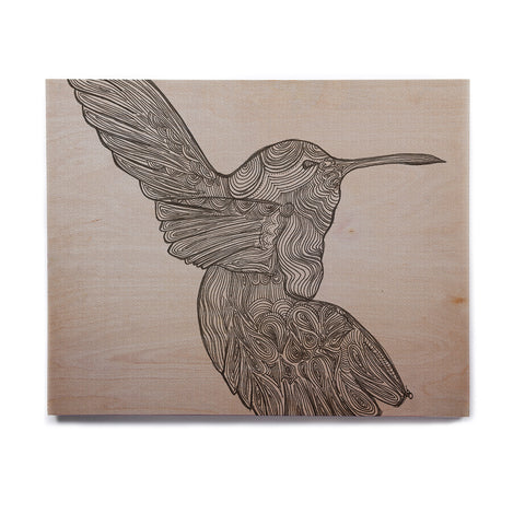 "Belinda Gillies ""Hummingbird"" Birchwood Wall Art - KESS InHouse  - 1"