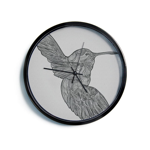 "Belinda Gillies ""Hummingbird""  Modern Wall Clock"