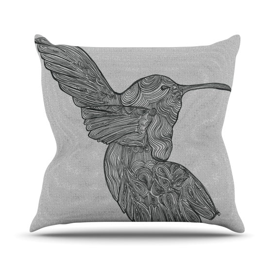 "Belinda Gillies ""Hummingbird"" Throw Pillow - KESS InHouse  - 1"