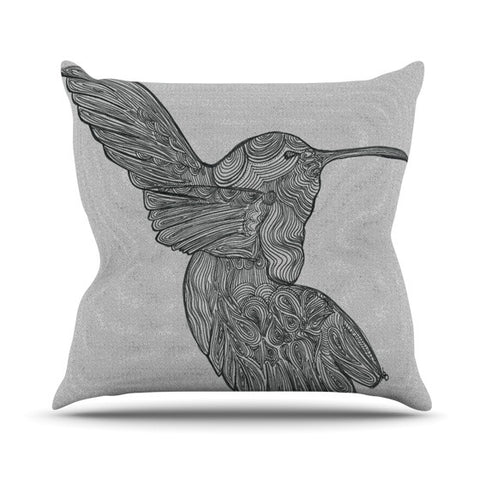 "Belinda Gillies ""Hummingbird"" Outdoor Throw Pillow - KESS InHouse  - 1"