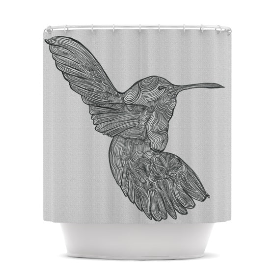 "Belinda Gillies ""Hummingbird"" Shower Curtain - KESS InHouse"