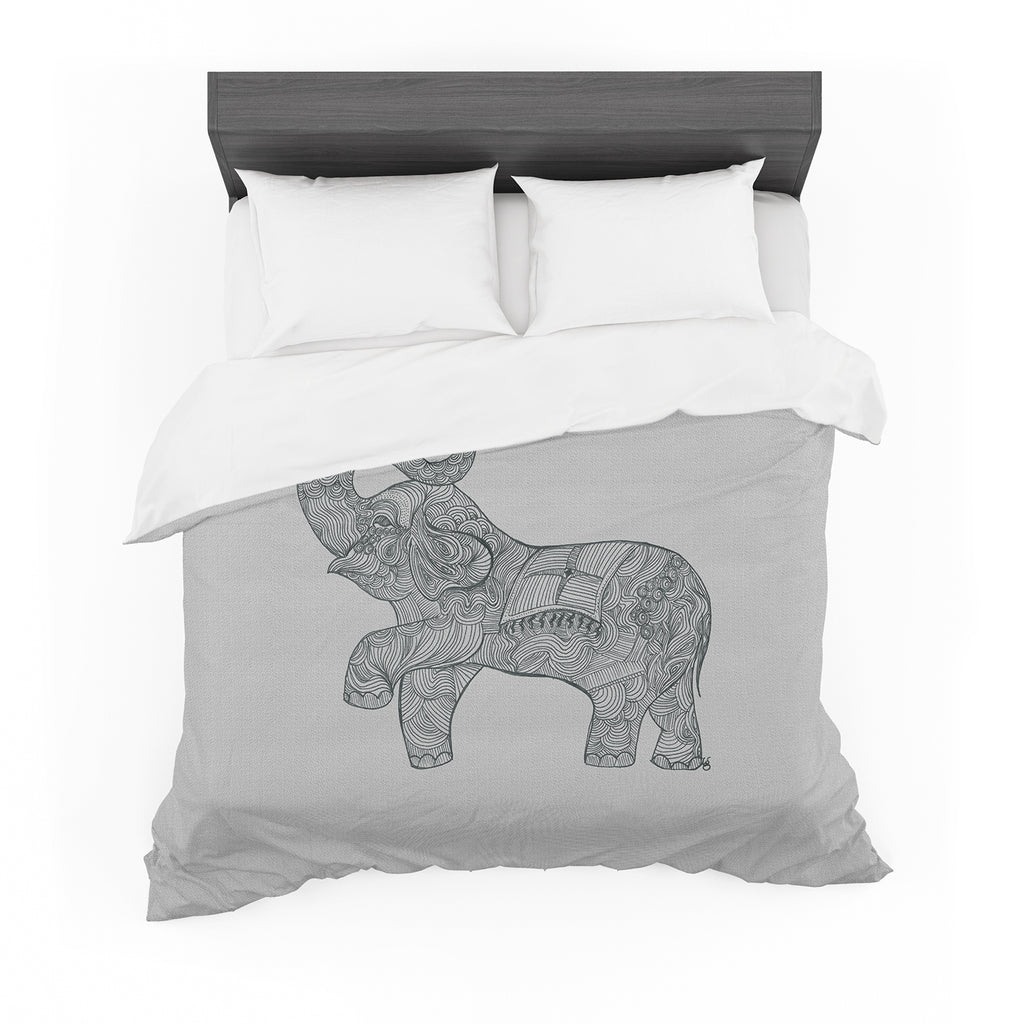"Belinda Gillies ""Elephant"" Featherweight Duvet Cover"