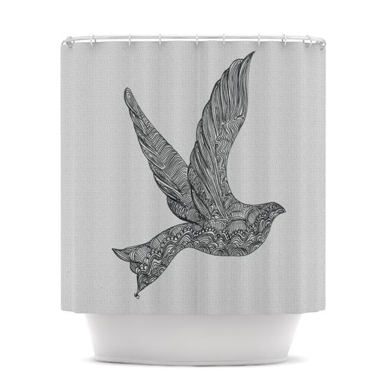 "Belinda Gillies ""Dove"" Shower Curtain - KESS InHouse"