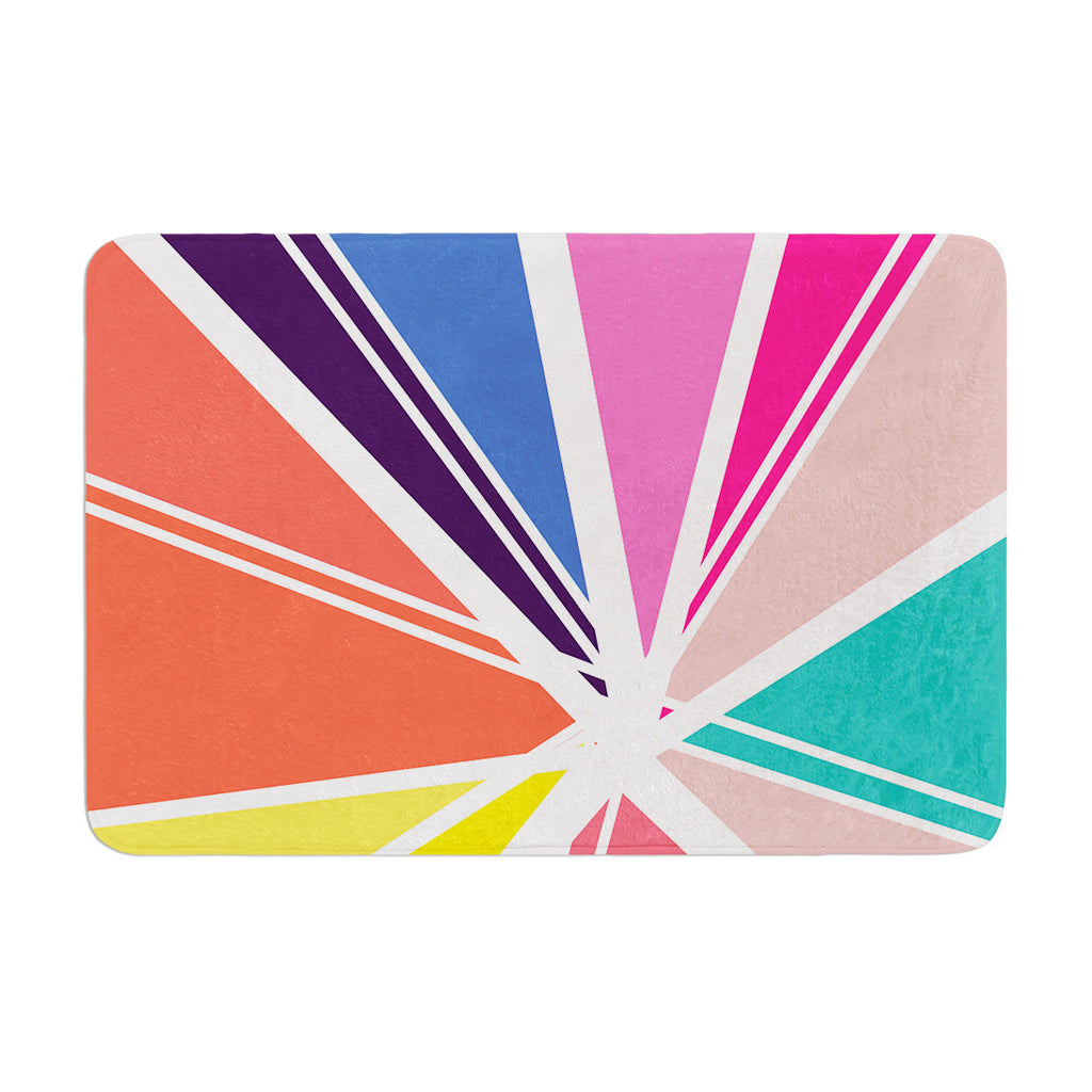 "Belinda Gillies ""Boldly Bright"" Memory Foam Bath Mat - KESS InHouse"