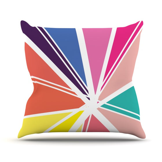 "Belinda Gillies ""Boldly Bright"" Throw Pillow - KESS InHouse  - 1"