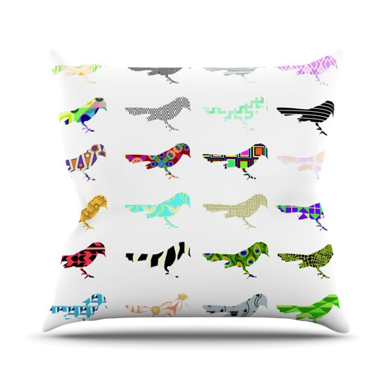 "Belinda Gillies ""Birds"" Throw Pillow - KESS InHouse  - 1"