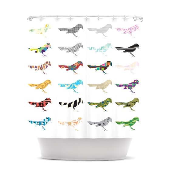 "Belinda Gillies ""Birds"" Shower Curtain - KESS InHouse"