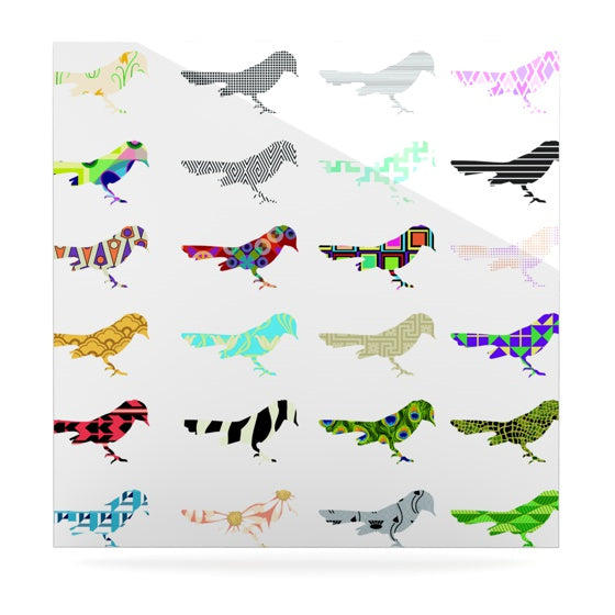 "Belinda Gillies ""Birds"" Luxe Square Panel - KESS InHouse  - 1"