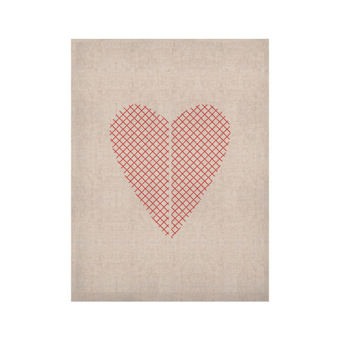 "Belinda Gillies ""Cross My Heart"" Red White KESS Naturals Canvas (Frame not Included) - KESS InHouse  - 1"