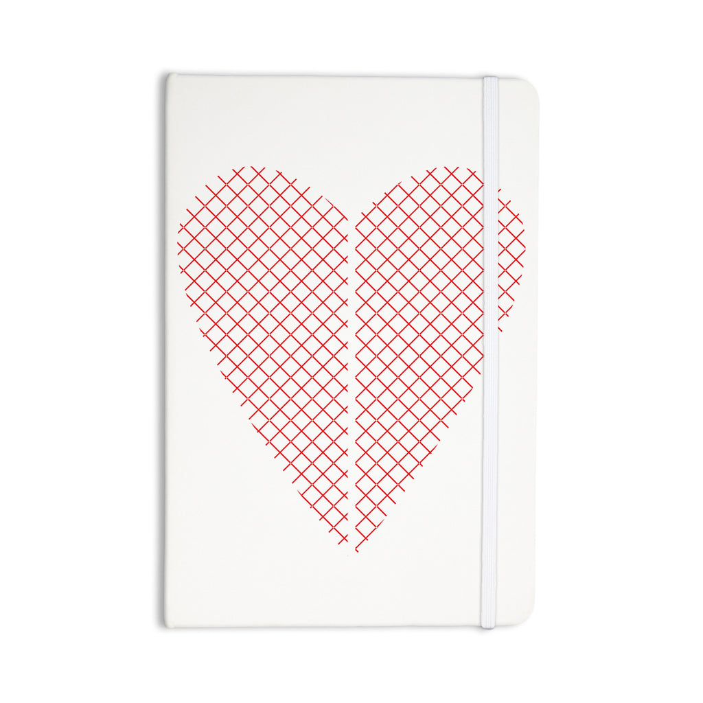 "Belinda Gilles ""Cross My Heart"" Red White Everything Notebook - KESS InHouse  - 1"