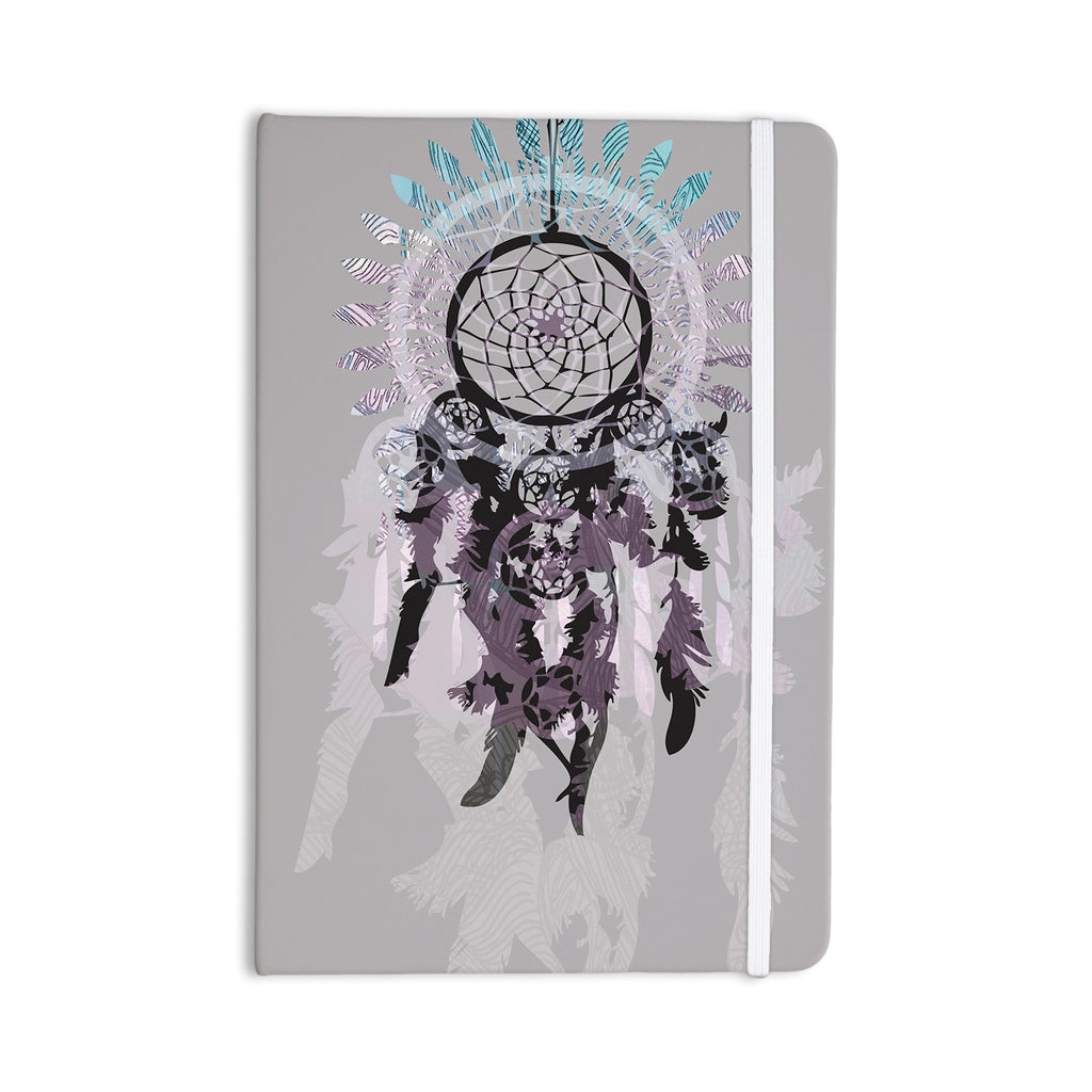 "Belinda Gilles ""Daydream Dreamer"" Gray Purple Everything Notebook - KESS InHouse  - 1"
