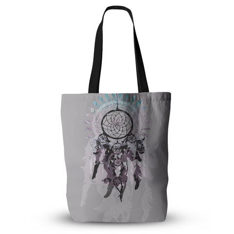 "Belinda Gilles ""Daydream Dreamer"" Gray Purple Everything Tote Bag - KESS InHouse  - 1"