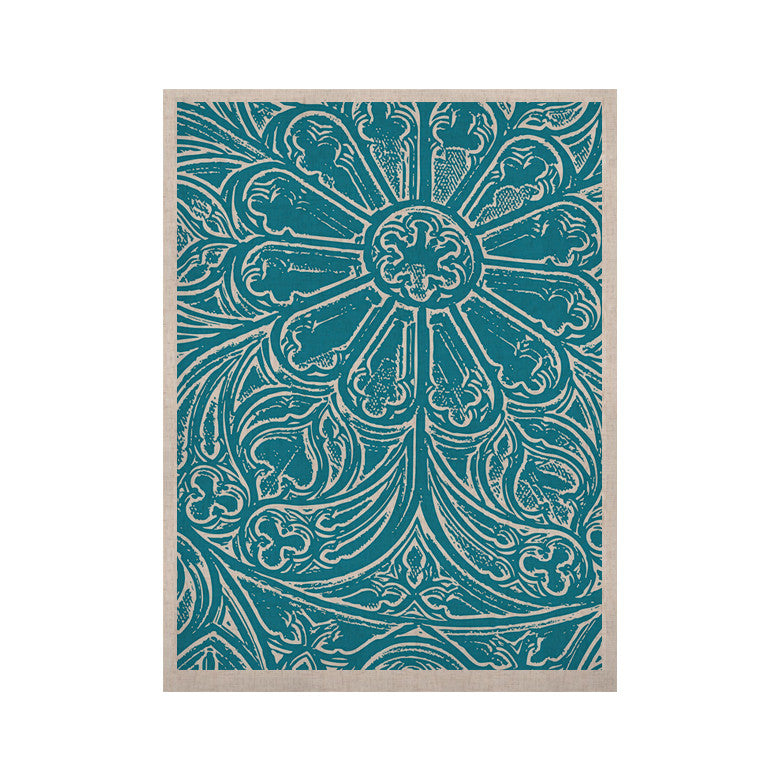 "Belinda Gillies ""Pitter Pattern"" Teal Blue KESS Naturals Canvas (Frame not Included) - KESS InHouse  - 1"