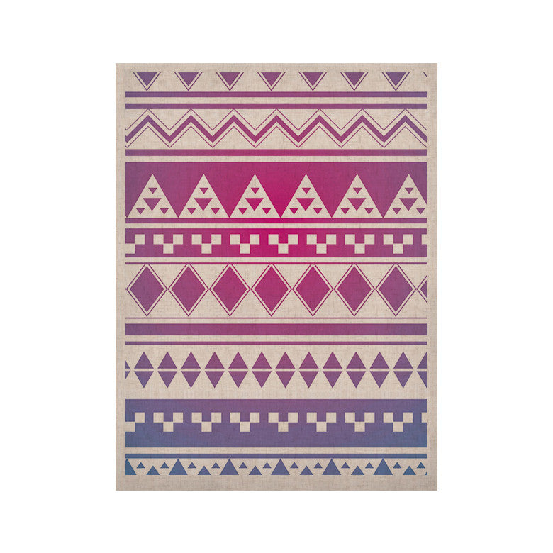 "Belinda Gillies ""Rainbow Aztec"" Purple Blue KESS Naturals Canvas (Frame not Included) - KESS InHouse  - 1"