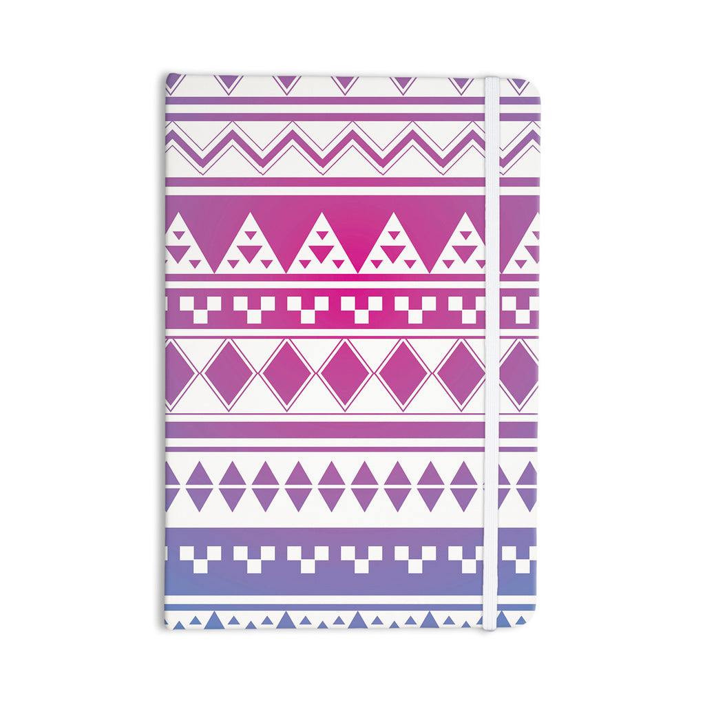 "Belinda Gilles ""Rainbow Aztec"" Purple Blue Everything Notebook - KESS InHouse  - 1"