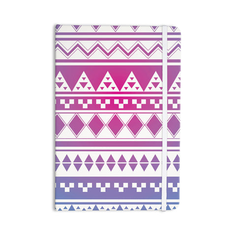 "Belinda Gilles ""Rainbow Aztec"" Purple Blue Everything Notebook - Outlet Item"