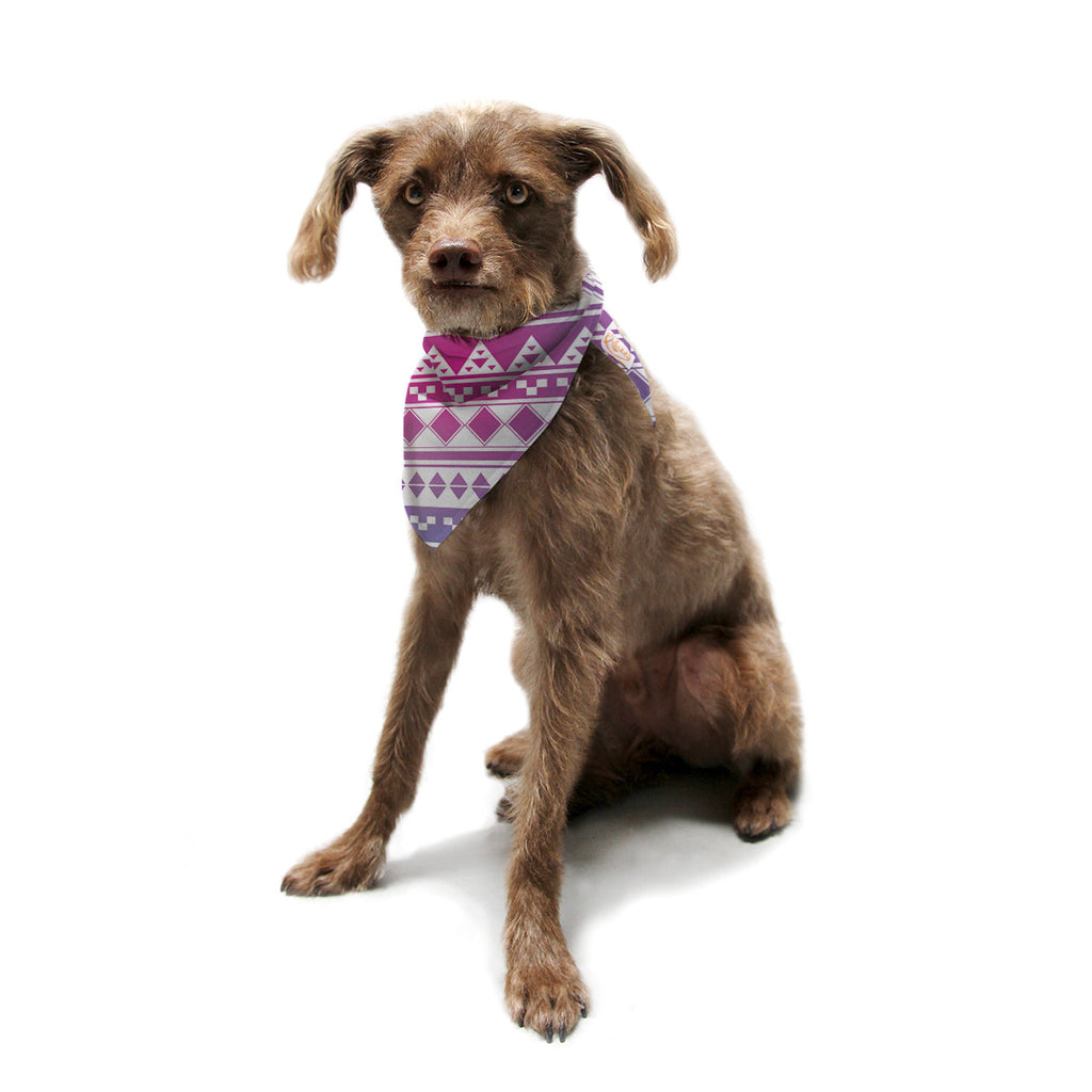 "Belinda Gillies ""Rainbow Aztec"" Purple Blue Pet Bandana - KESS InHouse  - 1"
