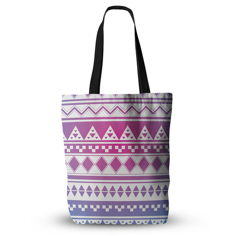 "Belinda Gilles ""Rainbow Aztec"" Purple Blue Everything Tote Bag - KESS InHouse  - 1"