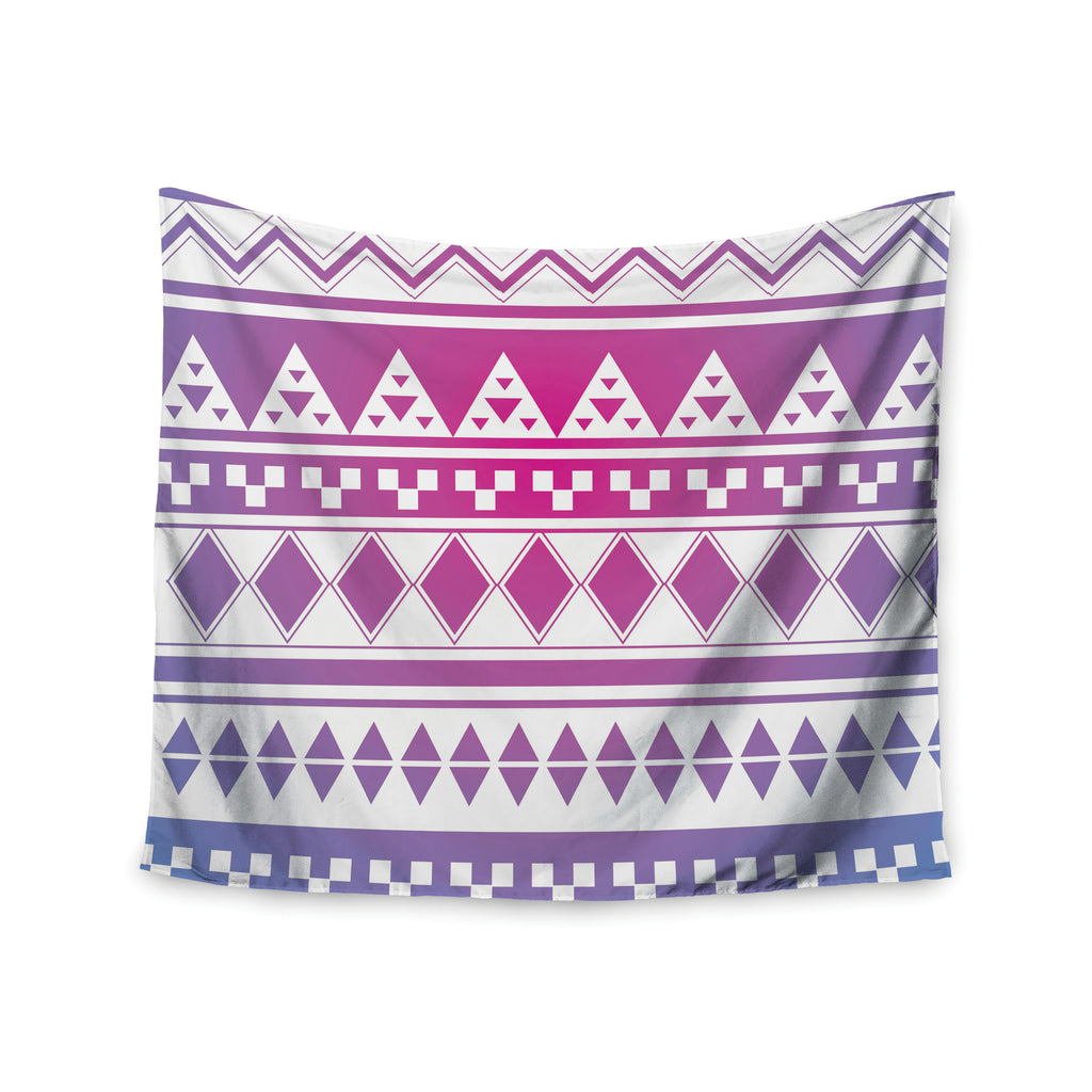 "Belinda Gilles ""Rainbow Aztec"" Purple Blue Wall Tapestry - KESS InHouse  - 1"
