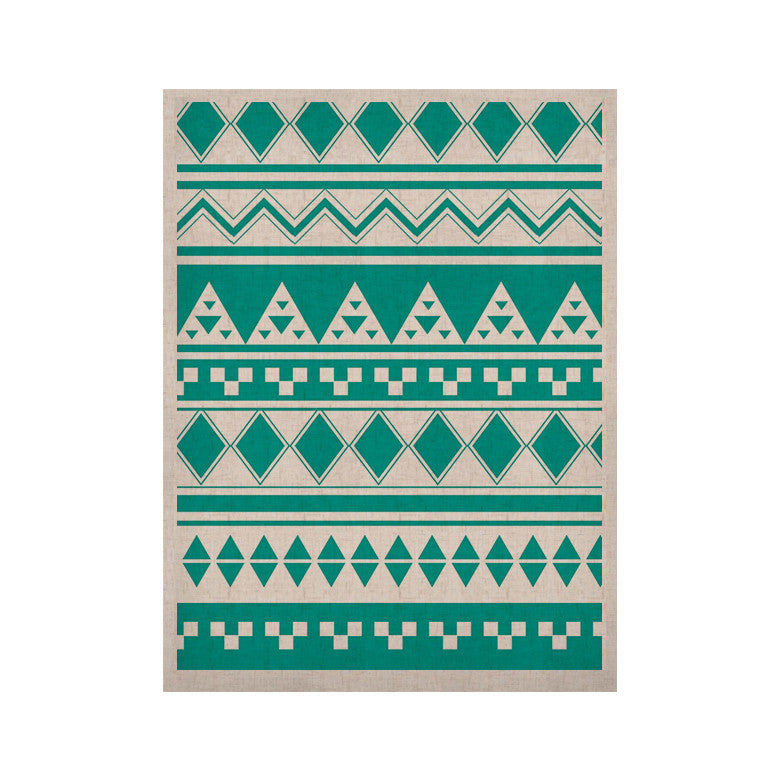 "Belinda Gillies ""Turquoise Aztec"" Teal Green KESS Naturals Canvas (Frame not Included) - KESS InHouse  - 1"