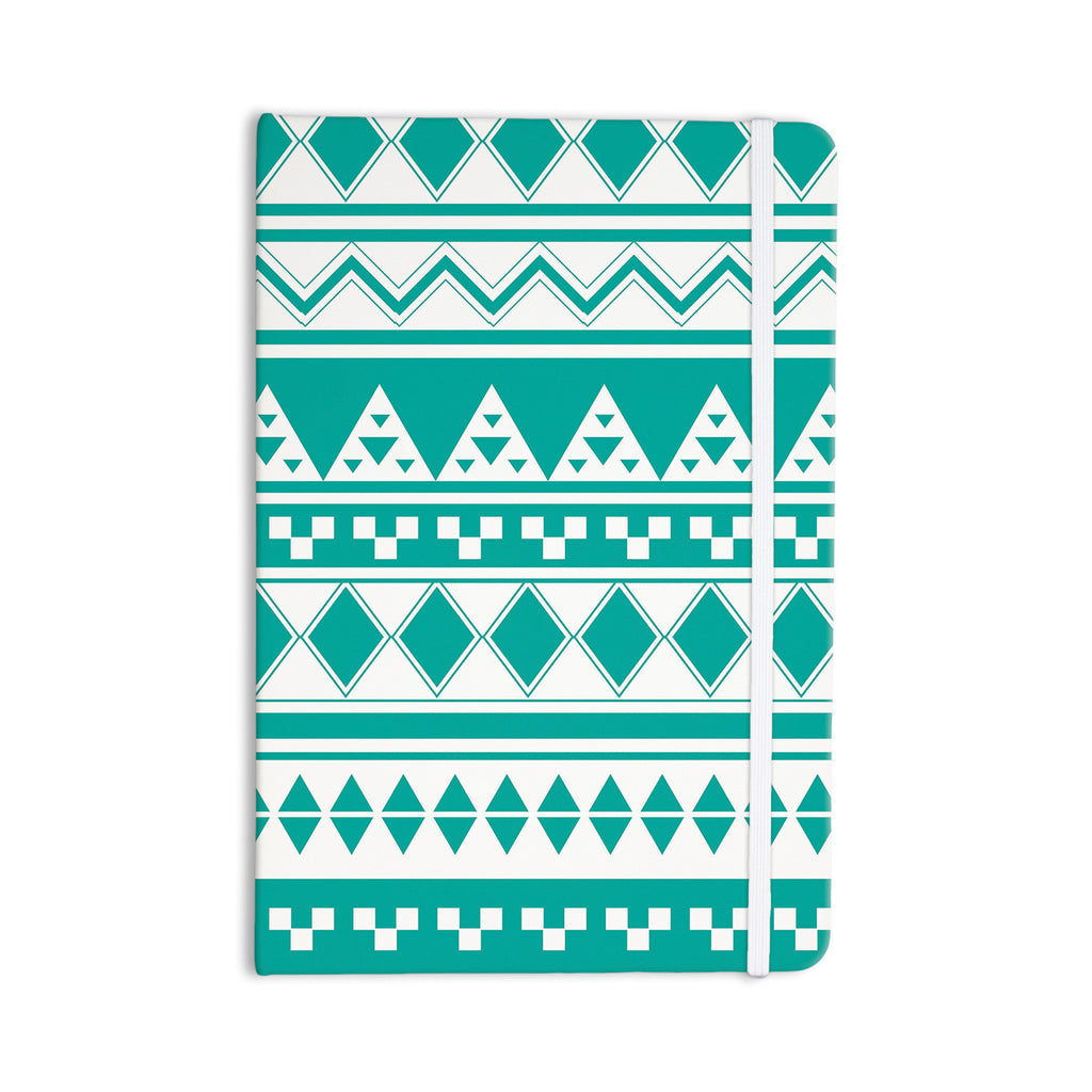 "Belinda Gilles ""Turquoise Aztec"" Teal Green Everything Notebook - KESS InHouse  - 1"