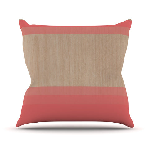 "Brittany Guarino ""Art Red"" Outdoor Throw Pillow - Outlet Item"