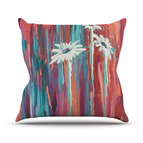 "Brienne Jepkema ""Whole"" Teal Orange Throw Pillow - Outlet Item - KESS InHouse"