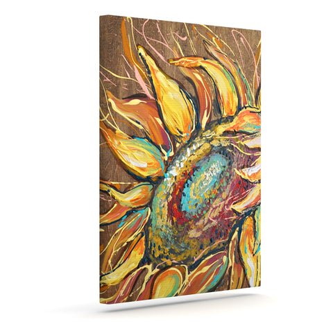 "Brienne Jepkema ""Sunflower"" Yellow Flower Outdoor Canvas Wall Art - Outlet Item"