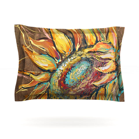 "Brienne Jepkema ""Sunflower"" Yellow Flower Pillow Sham - Outlet Item"