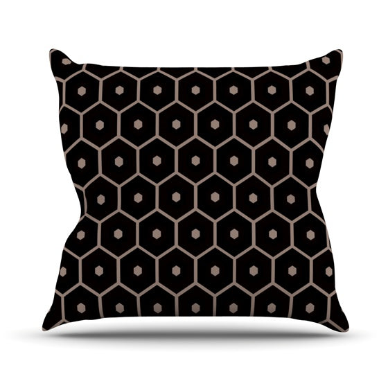 "Budi Kwan ""Tiled Mono"" Throw Pillow - KESS InHouse  - 1"