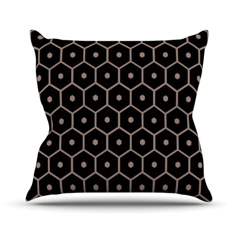"Budi Kwan ""Tiled Mono"" Outdoor Throw Pillow - Outlet Item"