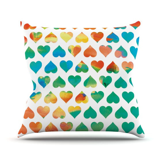 "Budi Kwan ""Be Mine"" Outdoor Throw Pillow - KESS InHouse  - 1"