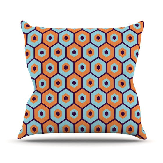 "Budi Kwan ""Busy"" Outdoor Throw Pillow - KESS InHouse  - 1"