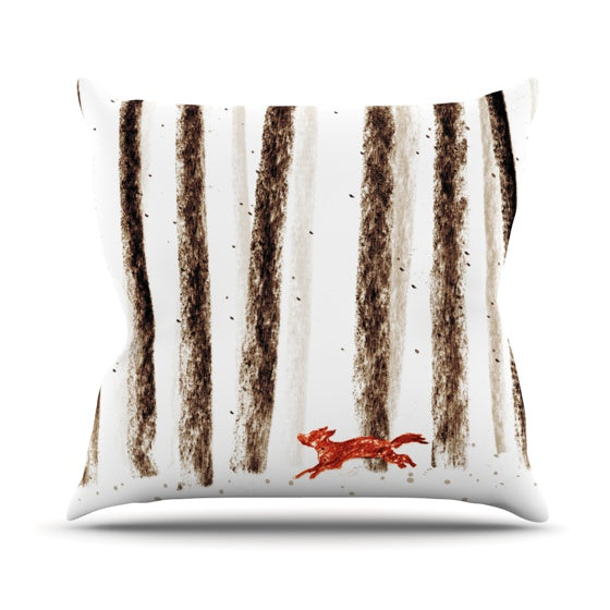 "Budi Kwan ""Run and Roam"" Throw Pillow - KESS InHouse  - 1"